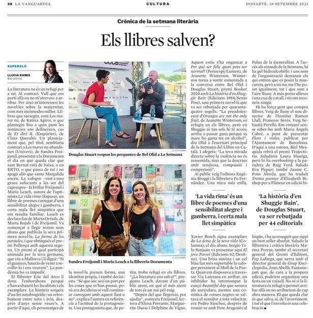 Article sobre la presentació a la Vanguardia